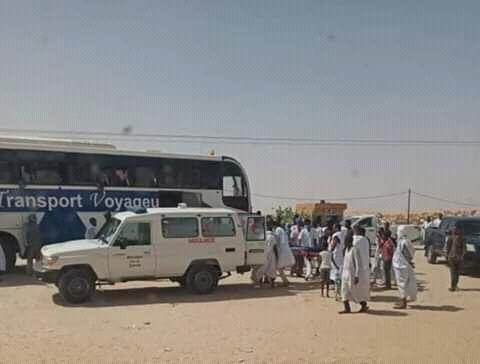 Photo of وفاة مسافر في حافلة  مسافرين متجه الي جهة الشرق (صورة الحافله)
